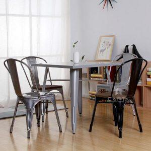 Bàn cafe tolix 4 chân, bàn ăn tolix ở TPHCM – Mã 2101R – Lavaco