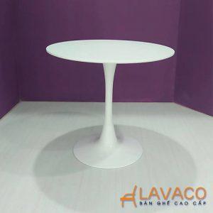 Bàn cafe bàn ăn tròn chân trụ - Mã: 1110W