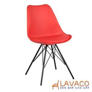 Ghế cafe ghế ăn nhựa màu đỏ - Mã: 1212R