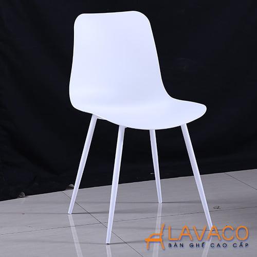 Ghế ăn, ghế cafe nhựa trắng - Mã: 1216W