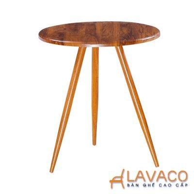 Bàn ăn, bàn cafe 3 chân tròn bằng gỗ - Lavaco