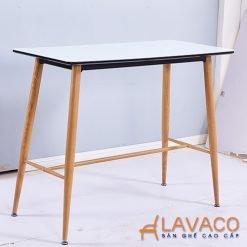 Bàn ăn, bàn cafe 4 chân thép sơn giả gỗ - Mã: 2107B - Lavaco