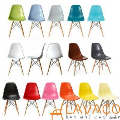 Ghế cafe, ghế ăn nhựa chân gỗ - Mã: 207