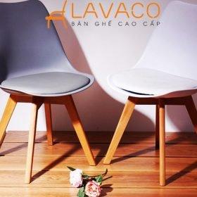 Sản phẩm ghế cafe, ghế ăn đệm chân gỗ đẹp giá rẻ ở TPHCM tại Lavaco - Mã: 1208R