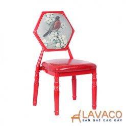 Ghế ăn, ghế cafe sắt bọc đệm - Mã: 1201B