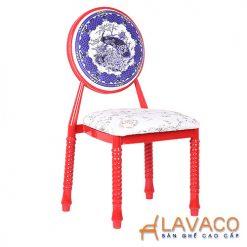 Ghế ăn, ghế cafe sắt bọc đệm - Mã: 1201C