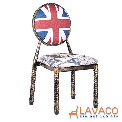 Ghế cafe, ghế ăn sắt bọc đệm – Mã: 1201D