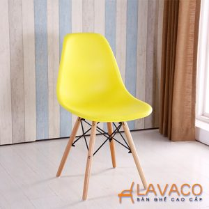 Ghế cafe, ghế ăn nhựa chân gỗ - Mã: 1209Y