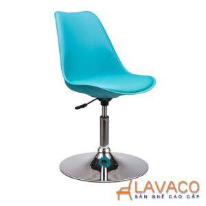 Ghế cafe, ghế ăn nhựa chân inox xoay - Mã: 1210BL