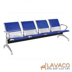 Ghế băng phòng chờ 4 ghế lót nệm- Mã: 8203BL