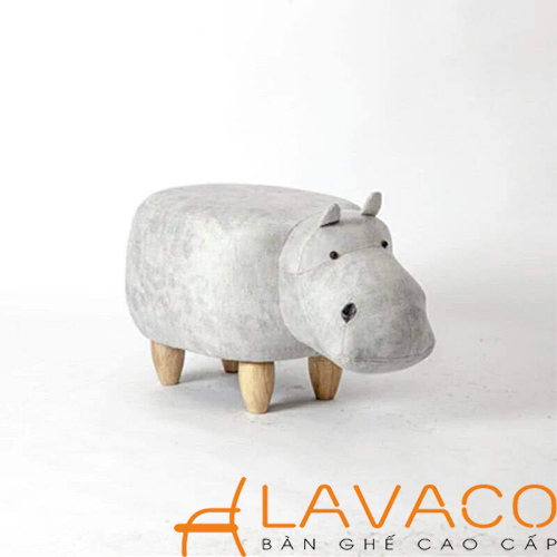 Ghế hình thú cho bé: Mẫu ghế thú cưng hình hà mã - Mã: 2901G - Lavaco