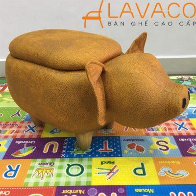 Ghế thú cưng dễ thương hình con heo ở TPHCM - Mã: 2902Y - Lavaco
