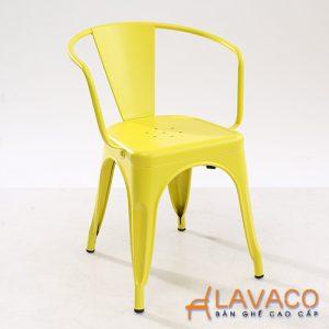 Ghế ăn, ghế cafe tolix màu vàng - Mã: 3201Y