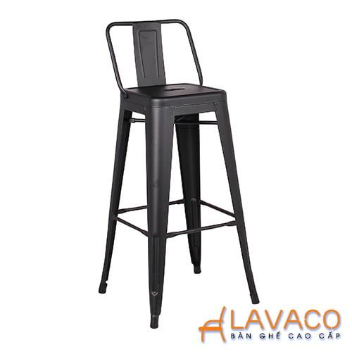 Ghế quầy bar tolix chân cao có lưng dựa - Mã: 3204B - LAVACO