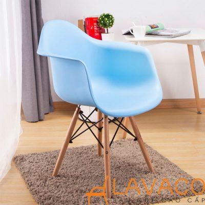 Sản phẩm Ghế Cafe Eames nhựa gỗ đẹp cao cấp và giá rẻ ở TPHCM tại Lavaco – Mã: 1222
