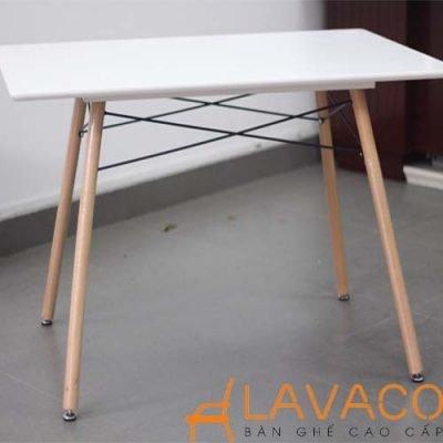 Bàn cafe 4 chân mặt gỗ MDF phủ nhựa PVC - Mã: 2108W - Lavaco