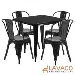bộ bàn ăn tolix 4 ghế