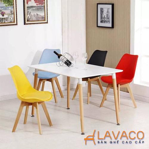 Bộ bàn ăn vuông 4 ghế, 6 ghế giá rẻ tphcm - Lavaco