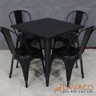 Bộ bàn ăn tolix 4 ghế, bàn cafe tolix nhập khẩu ở TPHCM - Lavaco