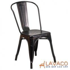 ghế tolix nhập khẩu màu đen cho quán cafe
