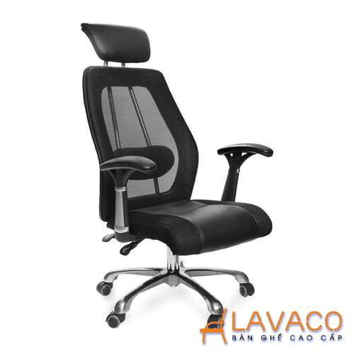 Ghế xoay văn phòng nệm ngã lưng cho sếp Mã 530 - Lavaco