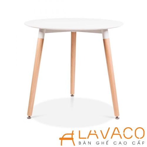 Bộ bàn ghế cafe tiếp khách hiện đại với ghế eames trong suốt - Lavaco