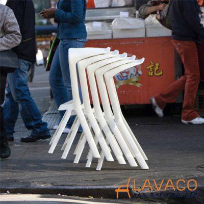 Ghế bar cafe nhựa đúc hiện đại nhập khẩu