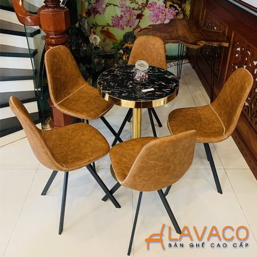 Ghế ăn nệm da phong cách cổ điển
