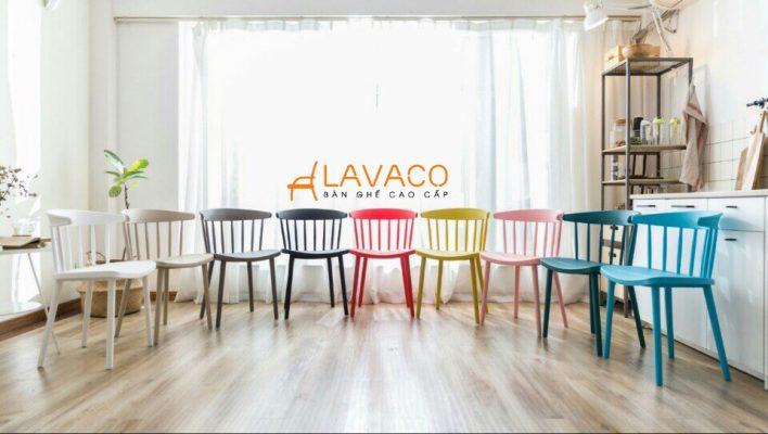 ghế cafe nhựa đúc nhiều màu cho quán trà sữa