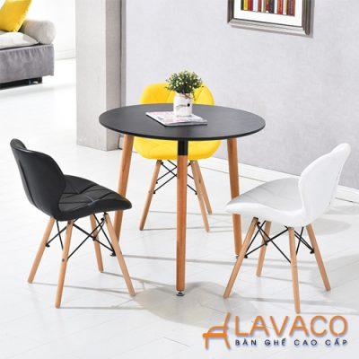 Hình ảnh: Ghế phòng ăn bọc nệm chân gỗ