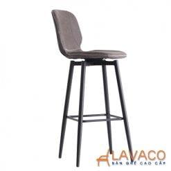 Ghế bar chân sắt mặt nệm cổ điển