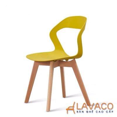 Ghế ăn hiện đại thân nhựa chân gỗ