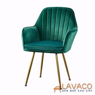 Ghế ăn bọc nhung chân mạ vàng Lavaco – Mã: 285 (Ảnh 1)