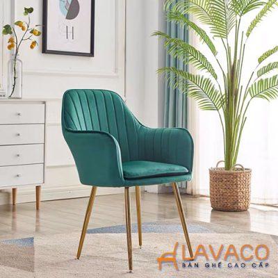 Ghế ăn bọc nhung chân mạ vàng Lavaco – Mã: 285 (Ảnh 3)