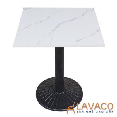 Bàn cafe mặt đá vuông chân đen Lavaco T152w (Ảnh 2)