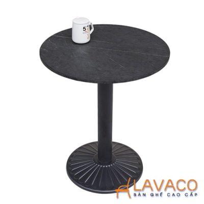 Bàn cafe ngoài trời mặt đá chân gang Lavaco T152 (Ảnh 1)
