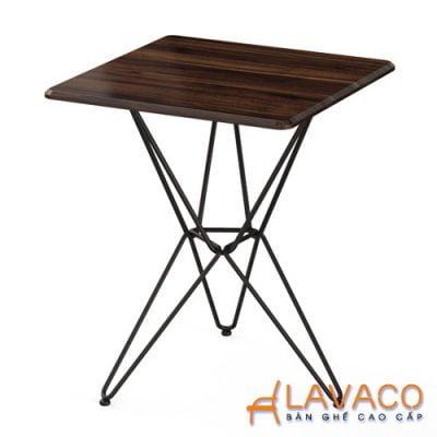 Bàn cafe vuông chân sắt mẫu 3 chân Lavaco T159V (Ảnh 1)