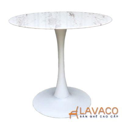 Bàn cafe tròn tulip mặt đá chân thép Lavaco T117A (Ảnh 2)