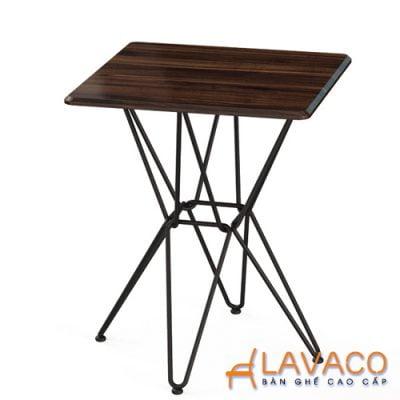 Bàn cafe vuông chân sắt Lavaco T160V (Ảnh 1)