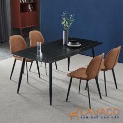 Bộ bàn ăn mặt đá hình chữ nhật 4 ghế