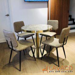 Bộ bàn tròn 4 ghế tiếp khách showroom đẳng cấp