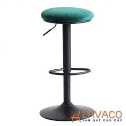 Ghế bar chân sắt sơn tĩnh điện nệm ngồi bọc nhung