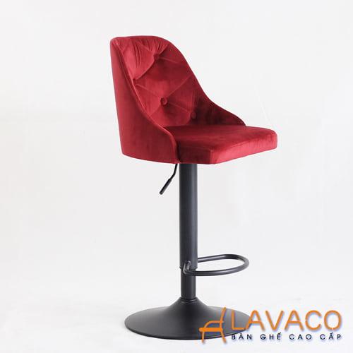 Ghế quầy bar nâng hạ lưng bọc vải nhung