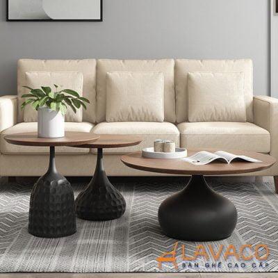 Bàn sofa góc nhỏ gọn cho phòng khách