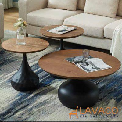 Bộ 3 bàn sofa phòng khách sang trọng