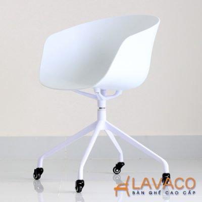 Ghế phòng họp lưng nhựa chân xoay cao cấp