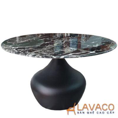 Bàn sofa mặt kính vân đá hiện đại