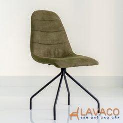 Ghế ăn hiện đại bọc vải chân thép sơn tĩnh điện