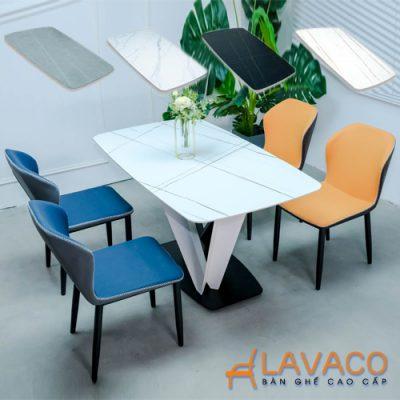 Bộ bàn ăn 4 ghế mặt đá cao cấp nhập khẩu