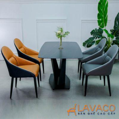 Bộ bàn ăn 4 ghế mặt đá nhập khẩu
